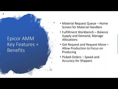 Webinar: Epicor Advanced Material Management (AMM)