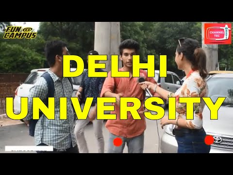 DELHI UNIVERSITY(DU)  FUN WITH FRESHERS | NEW VIDEO | CHANNEL TEC MASTI