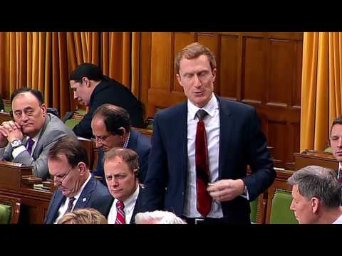Martin asking a question on infrastructure money for Alberta