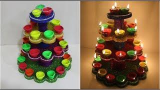 diya stand for diwali    diya holder    diwali decoration idea