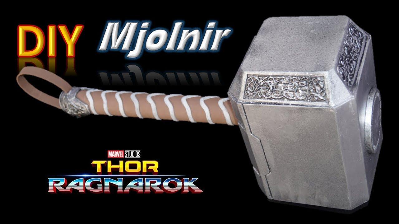 Cómo Hacer El Martillo De Thor Mjölnir Plantillas Template Youtube