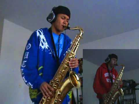 Akon - Right Now (Na Na Na) - Tenor Saxophone Duet by charlez360