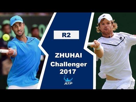 Yuki Bhambri vs Blaz Kavcic Highlights ZHUHAI 2017