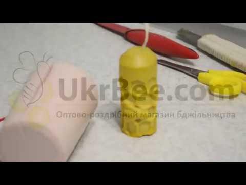 Изготовление восковых свечей (форма для свечей ПЧЕЛКА)