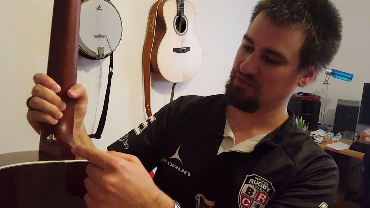MagiDeal Gitarrengurt aus Leder für Akustik Folk E Gitarre Braun
