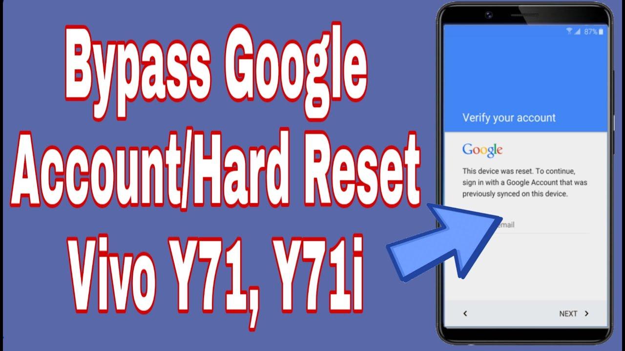Vivo Y71, 1724, Vivo Y71i, 1801 Hard Reset Bypass Google Account easy Trick