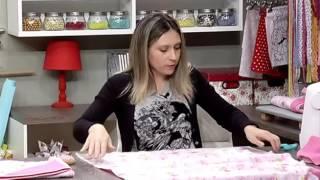 Como fazer uma toalha de bebê forrada – 1a parte