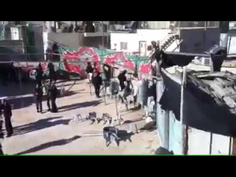 Security forces destroy mourning tent of terrorist's family (Media Resource Group)