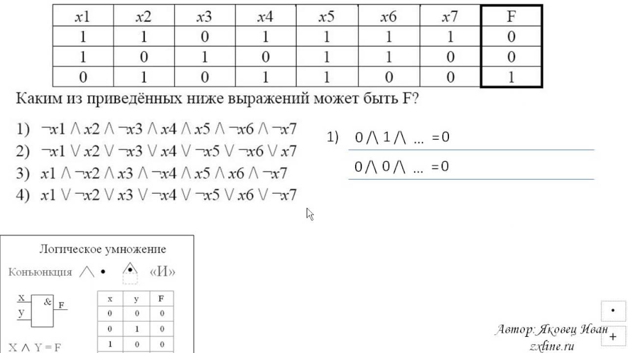 решение задач на логику i