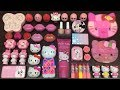 Slime Mixing | Special Series PINK Hello Kitty | Mixing Random Things into Slime