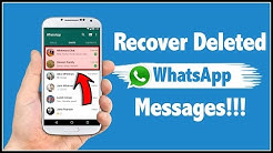 How To Recover Deleted WhatsApp Messages in Android Phone?