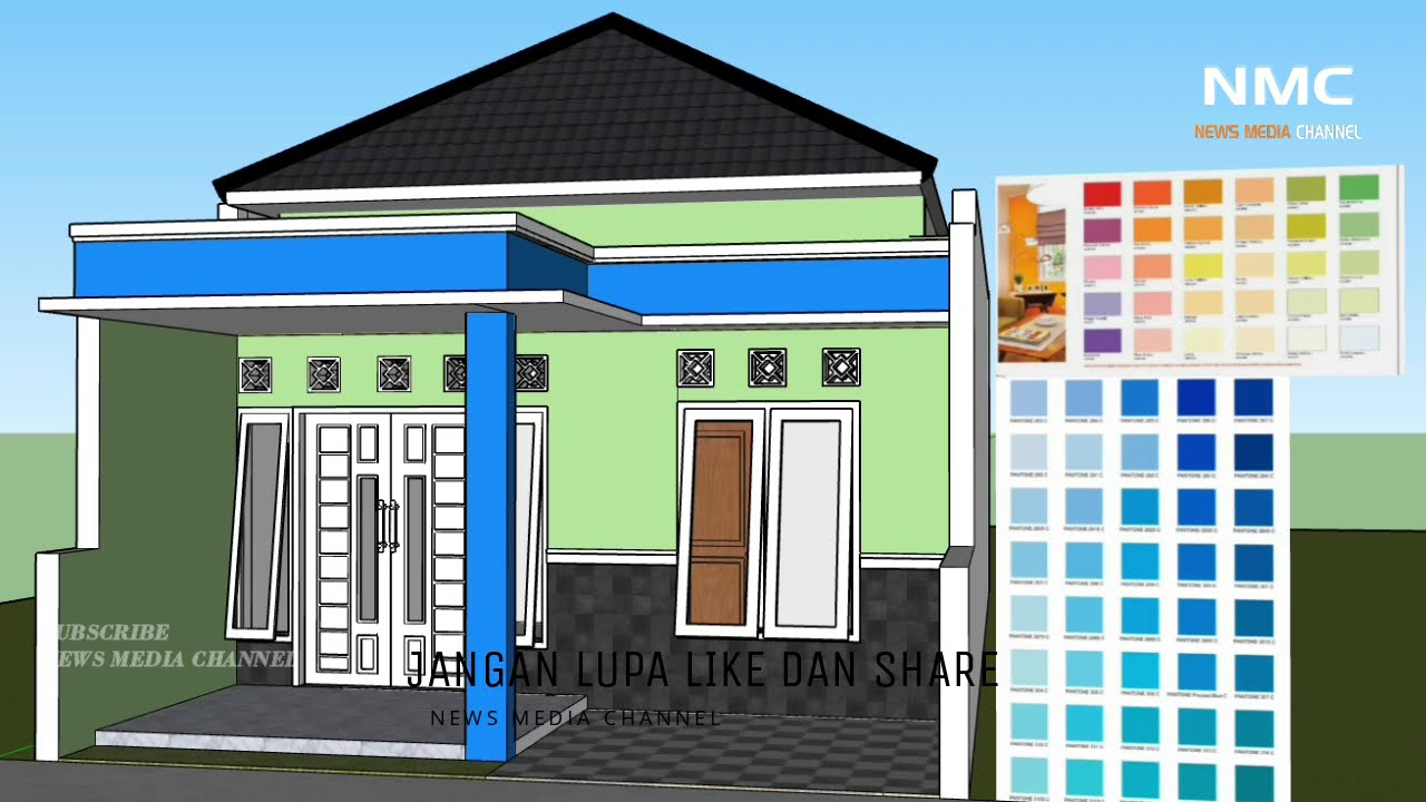 Kombinasi Warna cat dinding exterior rumah minimalis yang ...