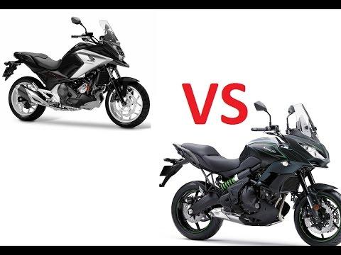 Honda Nc750x 2016 Vs Kawasaki Versys 650 2017 Youtube