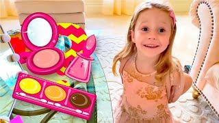 Nastya y Stacy maquillaje juguetes historias para niños