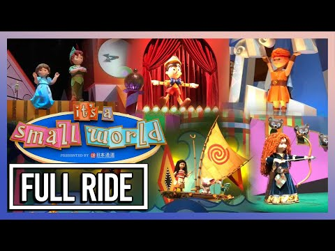 """NEW """"it's a small world"""" Featuring Disney Characters, Tokyo Disneyland Ride Attraction POV 2018"""