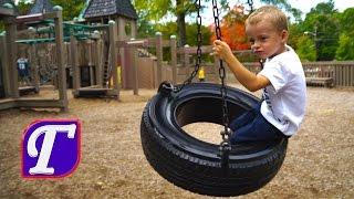 Детская Площадка в Америке Максим Играет в Замке Рыцарей влог видео для детей vlog entertainment