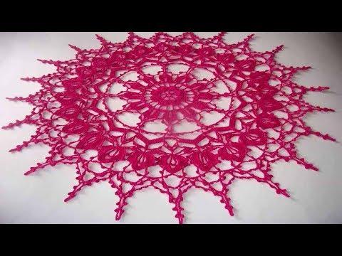 Вязание крючком салфетки схемы сказочно красивые салфетки видео