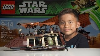 JABBA'S SAIL BARGE 2013 - LEGO Star Wars Set 75020 Time-lapse Build, Stop Motion, Unboxing & Review