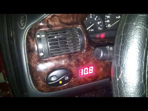 Ford escort 1.8 TD холодный старт в 25 С