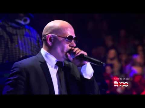 Pitbull ,HD,  Rain Over Me & International Love , Live ,HD 1080p