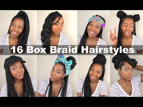 16 Quick & Easy Box Braid Hairstyles