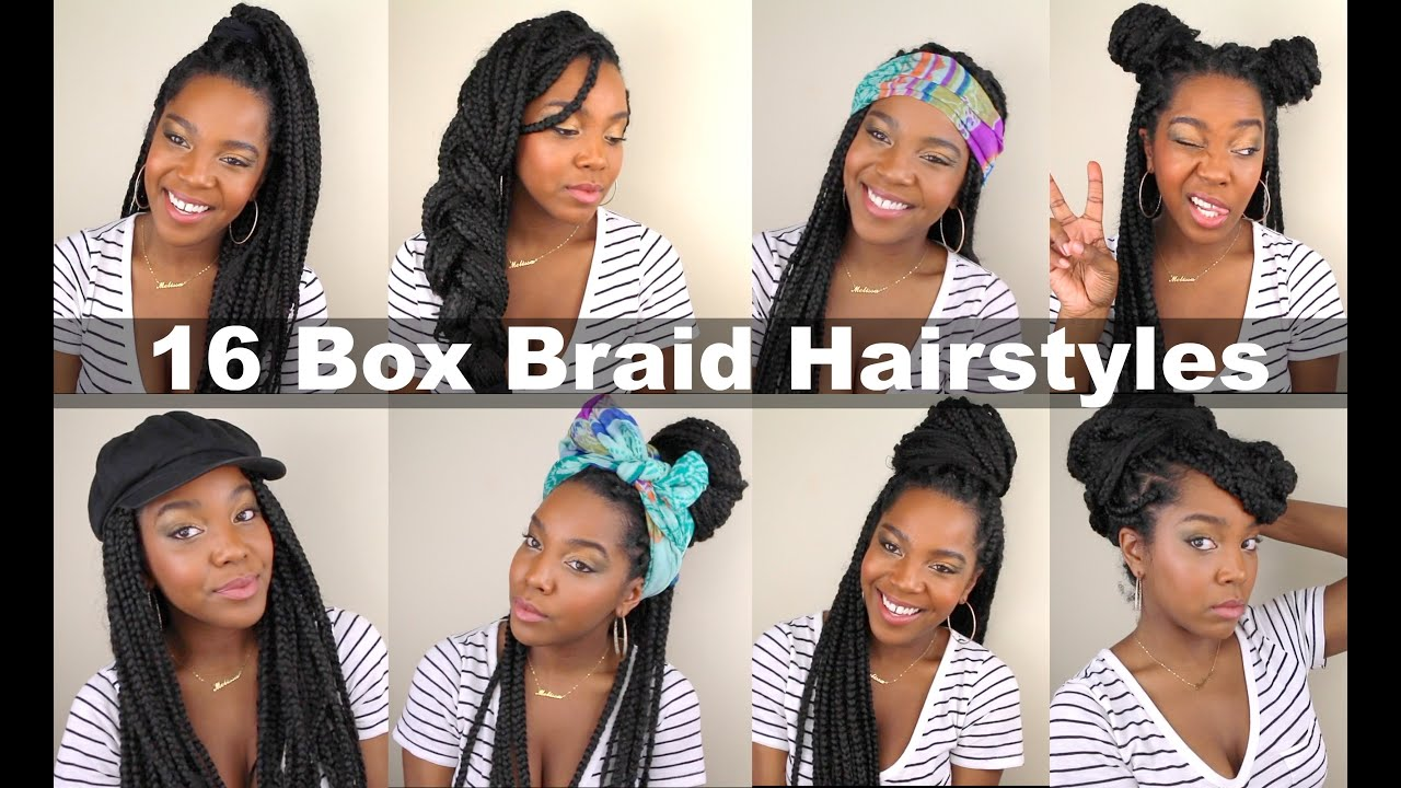 16 Box Braid Hairstyles | Quick & Easy | Natural Hair - YouTube