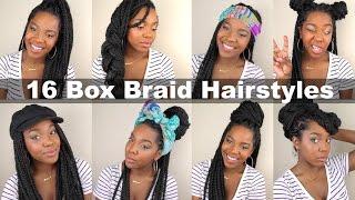 16 Box Braid Hairstyles Quick Easy Natural Hair Youtube