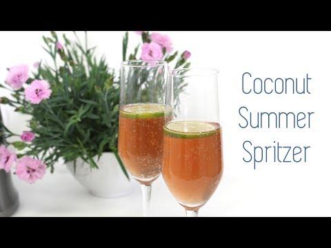 Coconut Pom Lime White Wine Summer Spritzer