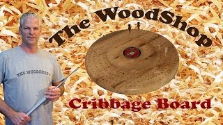 Wood Turning Cribbage Board