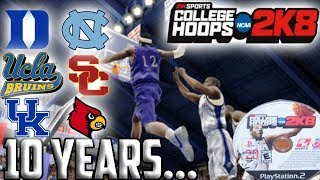 College Hoops 2k8 10 Years Later  The Greatest College Basketball Game Of All Time?