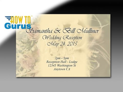 how to design an invitation