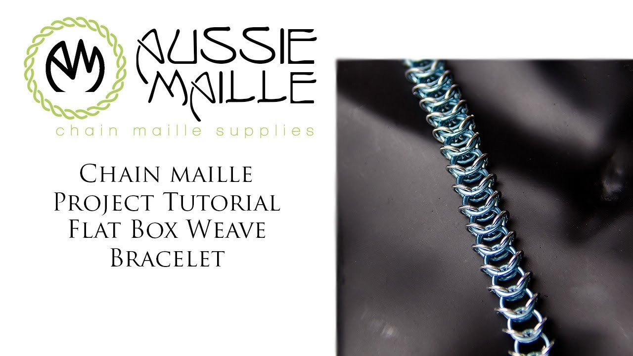 Chainmail Bracelet half moon weave