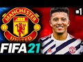 SANCHO SIGNS FOR UNITED!!! - FIFA 21 Manchester United Career Mode EP1