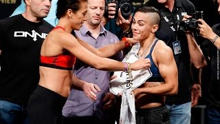 UFC 211 Weigh-Ins: Joanna Jedrzeczyk vs. Jessica Andrade Staredown - MMA Fighting