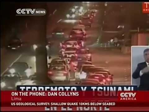 Major 8.2 magnitude quake shakes Lima, Peru.