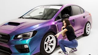 Worst Car Wrap Ever? Can We Fix This? | Lady Driven 2017 WRX