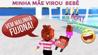 MINHA MÃE VIROU BEBÊ-ROBLOX-ADOTE E LEVANTE UM KID CUT