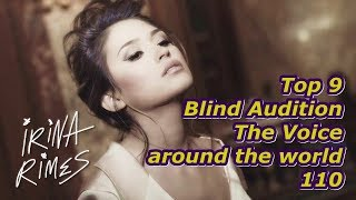 Top 9 Blind Audition (The Voice around the world 110)