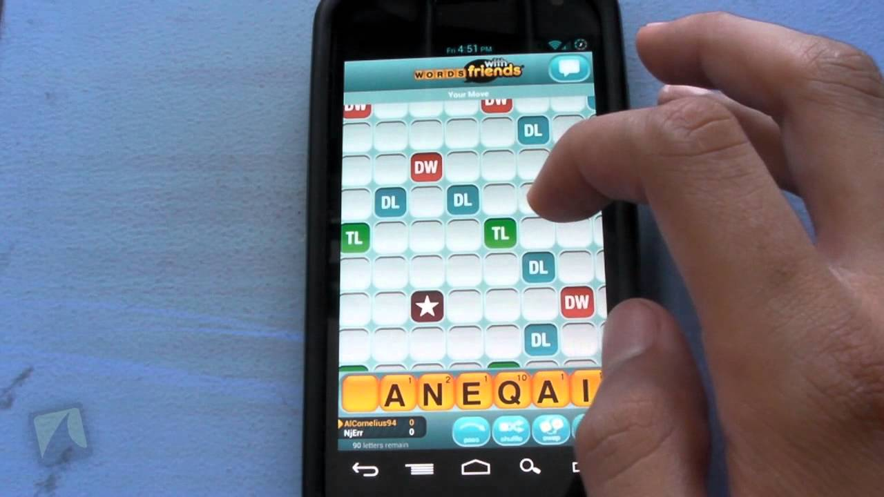 Phone Words With Friends For Android Phone words with friends by zynga droidshark com video review for android
