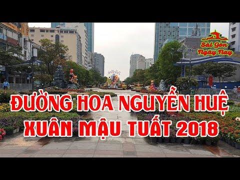 Đường Hoa Nguyễn Huệ Chào Xuân Mậu Tuất 2018 nơi Viêt Kiều về Sài gòn Ăn Tết nhất định phải ghé chơi