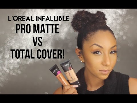Foundation Friday! L'Oreal Infallible Pro Matte VS Total Cover! Oily Skin Test | BiancaReneeToday