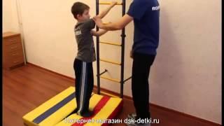 Комплекс упражнений для домашней шведской стенки.(Примеры упражнений для занятий с ребенком на классической шведской стенке. Лечебная физкультура в домашни..., 2015-08-19T05:58:56.000Z)