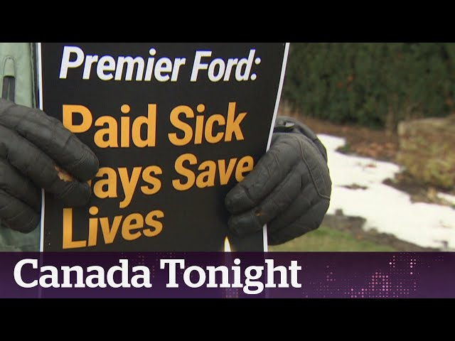Front-line workers call for paid sick days