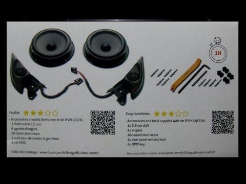 2013 vw gti episode 4 focal integration golf mk6 speaker installation youtube. Black Bedroom Furniture Sets. Home Design Ideas