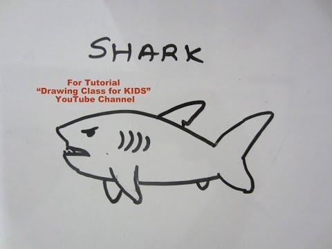 How To Draw Angry Shark Step By Step Tutorial For Kids Youtube