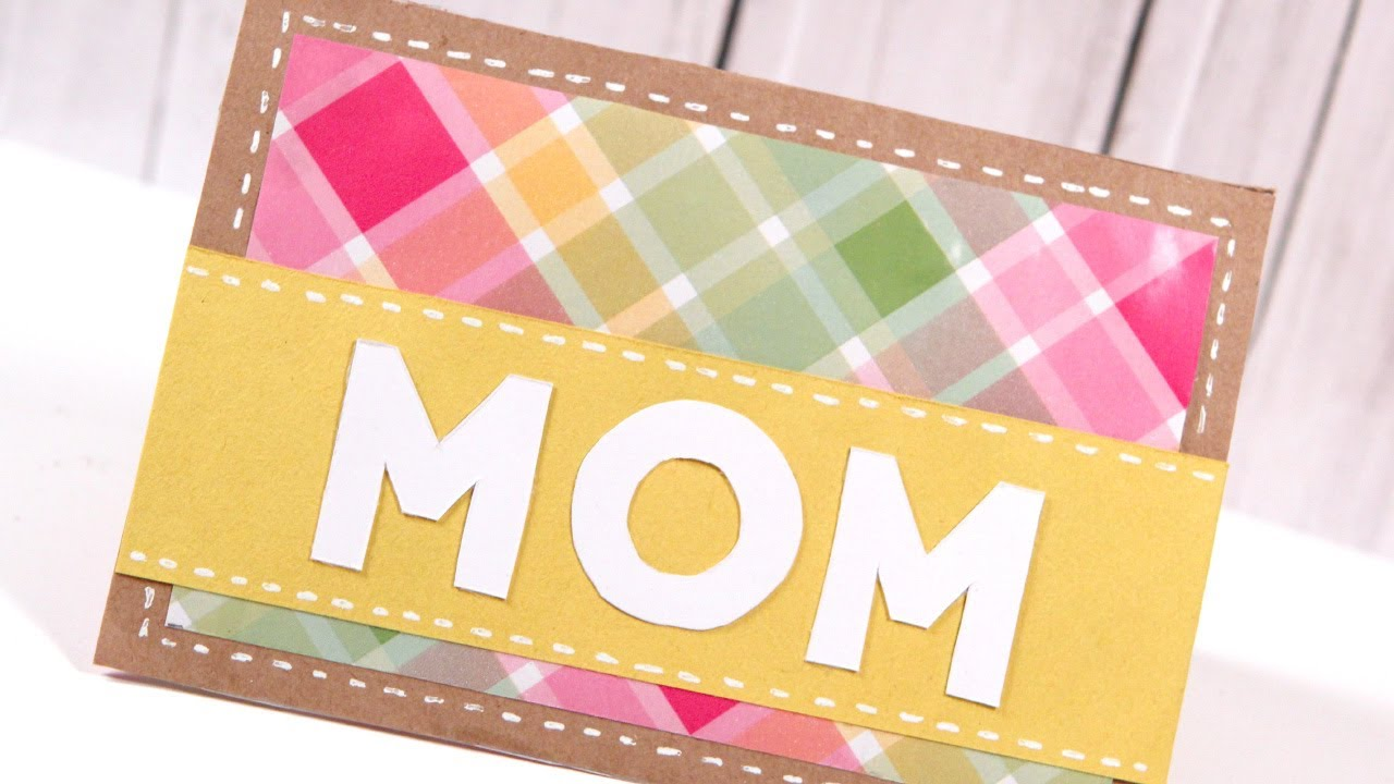 DIY Mothers Day Card Make a Card Monday 249 YouTube – Card Making Birthday Card Ideas