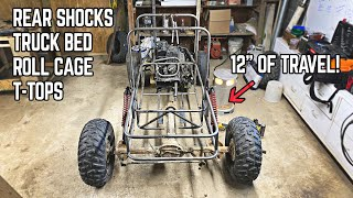 1000cc Mini Trophy Truck Build Pt. 6 | Roll Cage, Truck Bed, T-Tops, Rear Shocks!