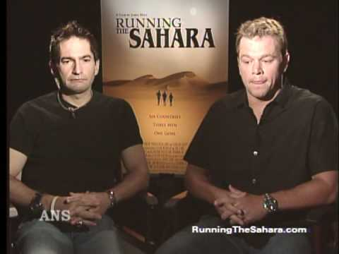 matt damon & ray zahab ans interview running the sahara