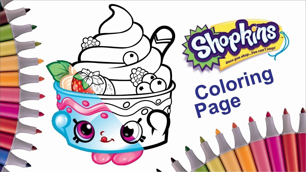 Shopkins Coloring Book | Coloring Frozen YoChi | Coloring Video For Kids