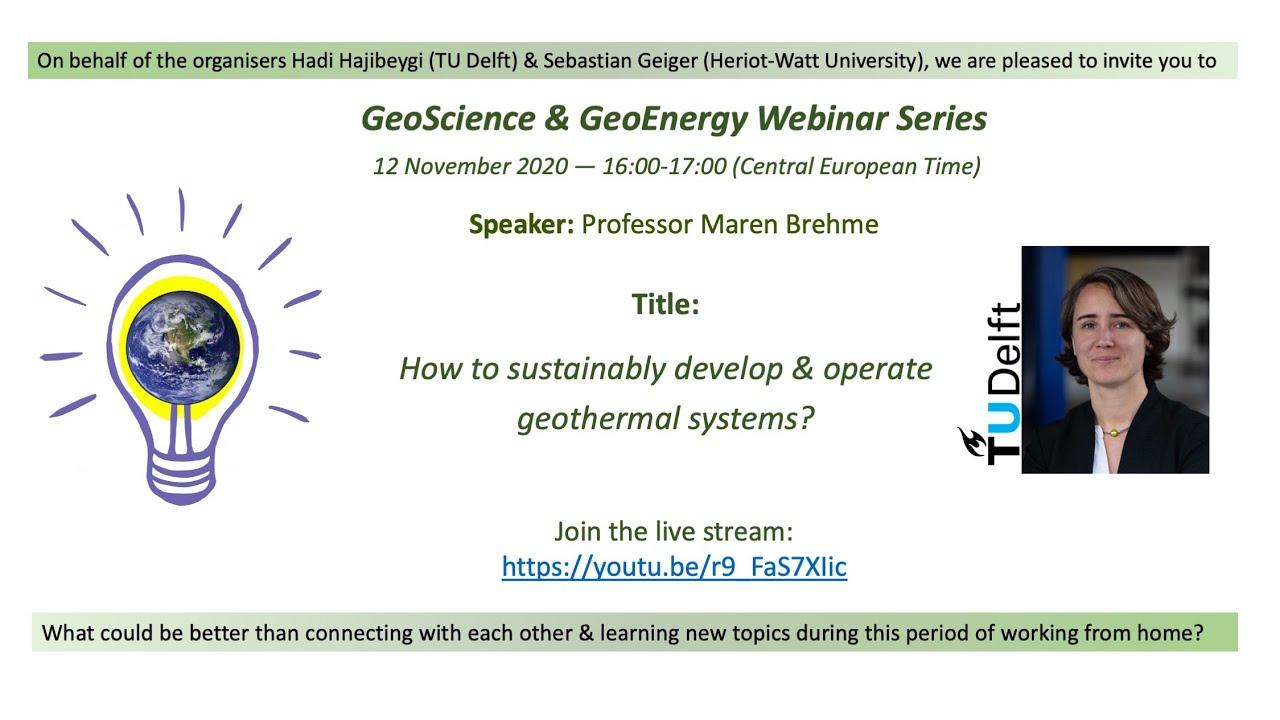 Professor Maren Brehme, TU Delft (Geothermal Energy)